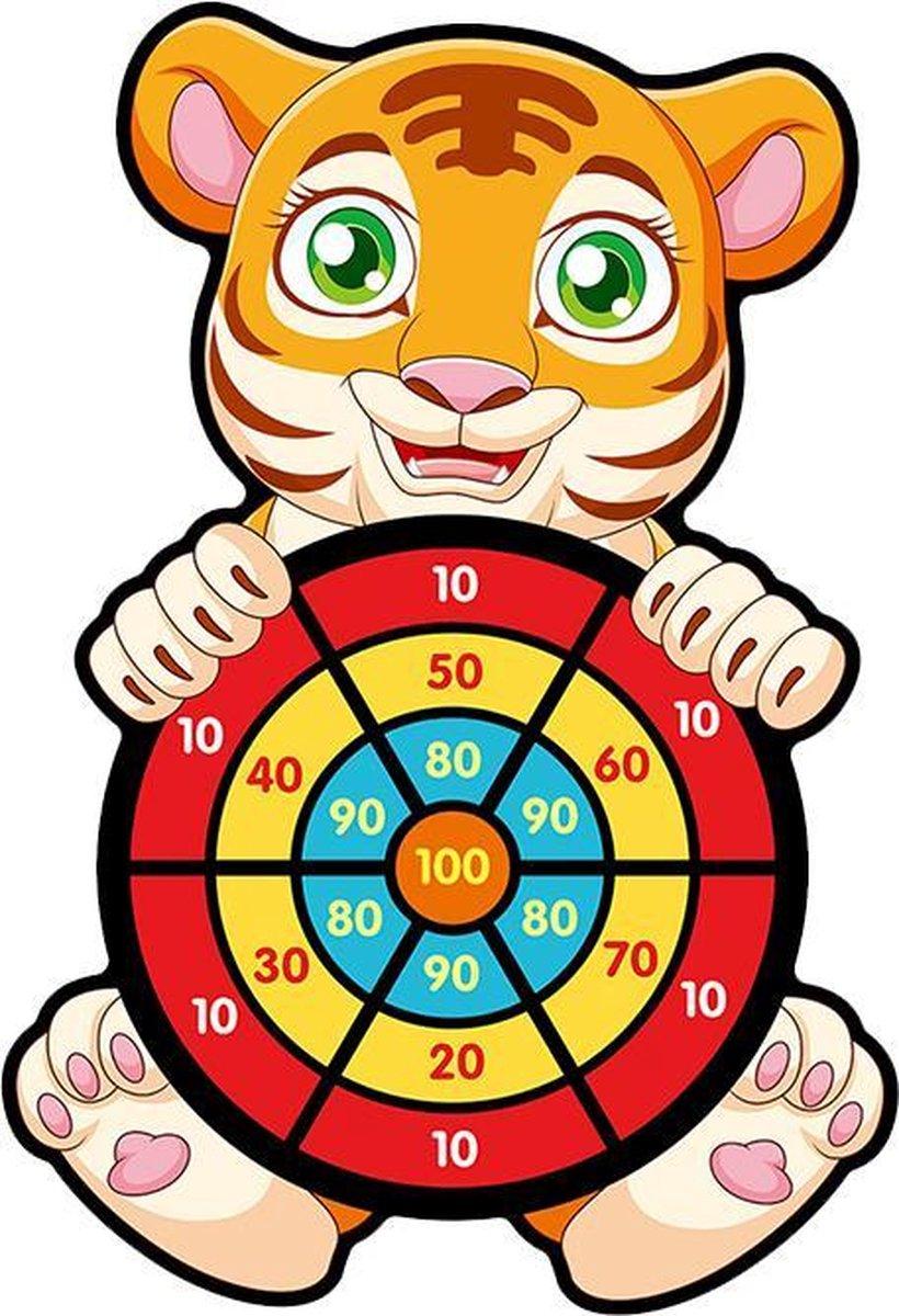 Toi-Toys dartspel met ballen tijger 46 cm