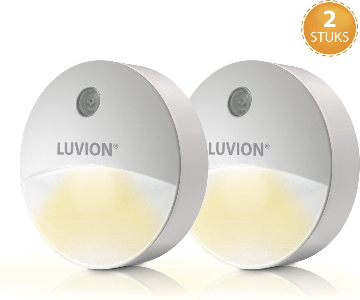 Luvion LED Nachtlampje Stopcontact Duo Verpakking- Nachtlampje voor Kinderen en Volwassenen