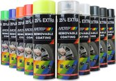 MOTIP SprayPlast verwijderbare rubber coating in 500ml spuitbus ZWART GLOSS