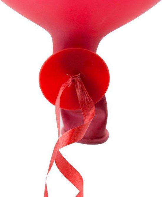Ballon snelsluiters rood met lint.