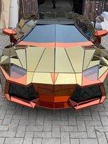 Lamborghini Aventador | schaal 1 op 1 | Kan rollen | Met led koplampen | Ambachtelijk gemaakt van hand geslepen spiegelglas