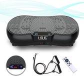 ISE RIGA SY-328-BK Trilplaat Fitness - Trilplatform - Geïntegreerde Bluetooth-luidspreker - Oscillerend - Groot oppervlak - USB-aansluiting - 99 snelheden - 5 programma's - Fitness en bodybuilding