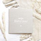 Mijn Babyjaar invulboek Linnen Zand
