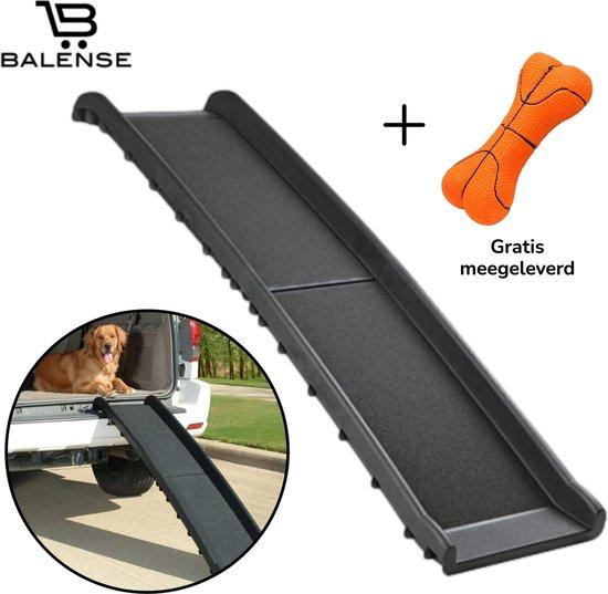 Balense® Hondenloopplank – Hondentrap – Loopplank hond - Inklapbaar – Geschikt voor auto & trappen – Hondentrapje voor middelgrote en grotere rassen