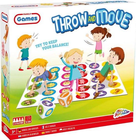 Grafix Dobbelen en Bewegen - Gezelschapsspel - Buiten spelen - Buitenspeelgoed - Spellen voor kinderen - Twister