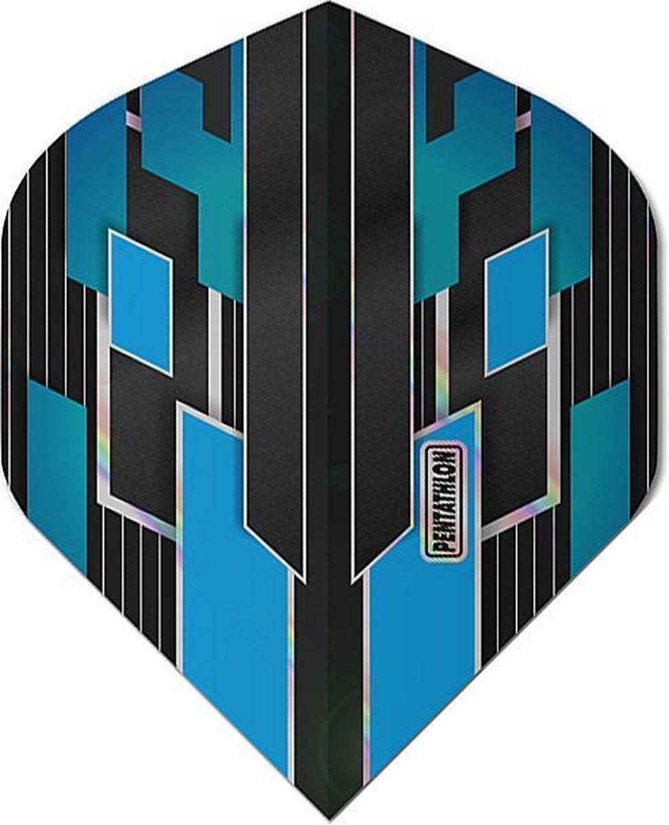 ABC Darts - Pentathlon Dart Flights Shimmers - Blauw - 5 sets