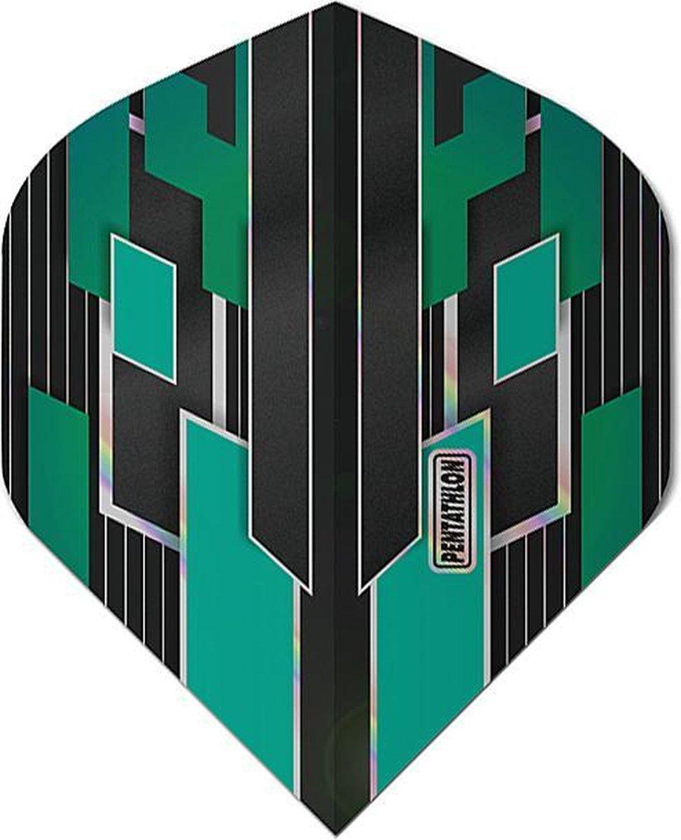 ABC Darts - Pentathlon Dart Flights Shimmers - Jade - 5 sets