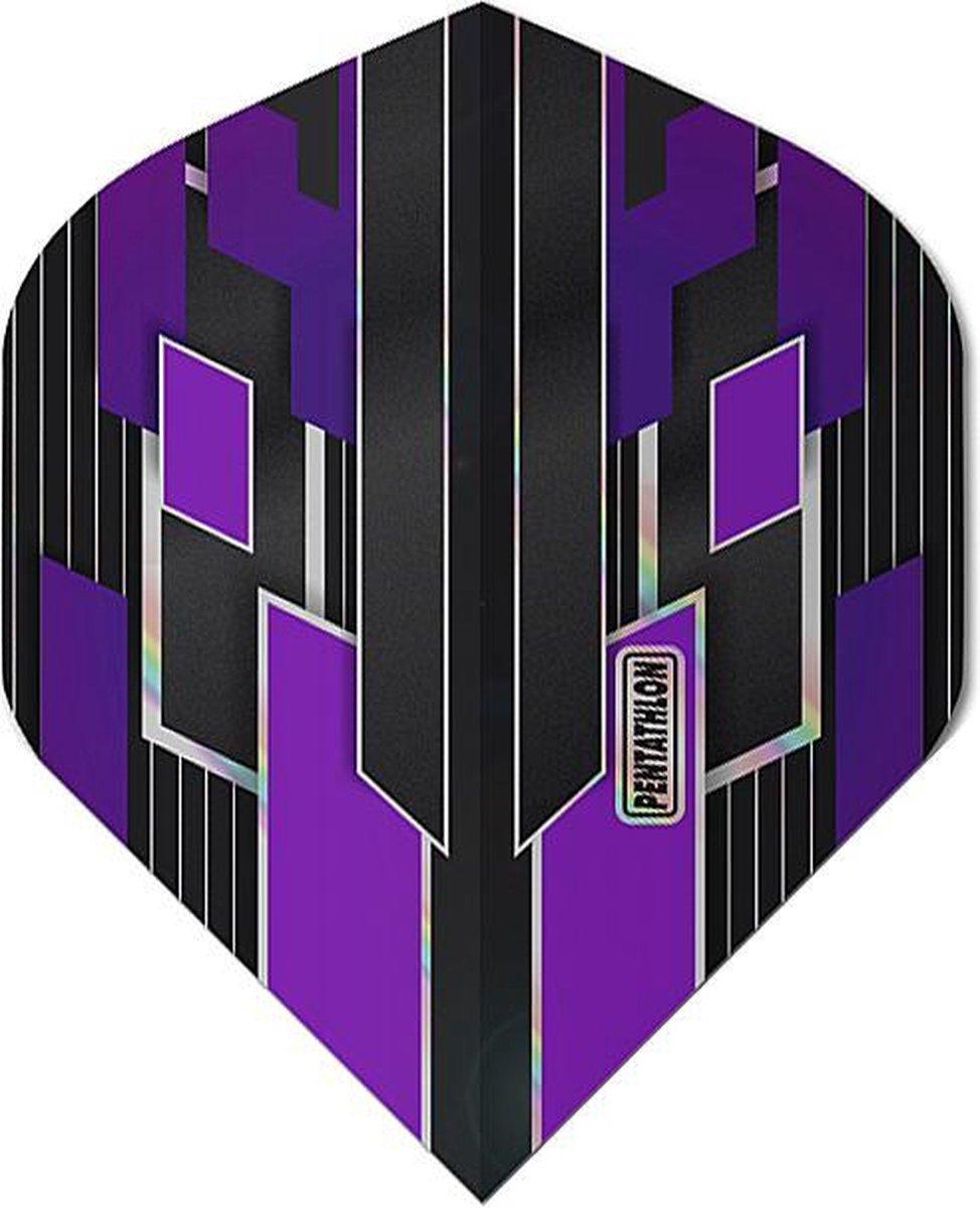 ABC Darts - Pentathlon Dart Flights Shimmers - Paars - 5 sets