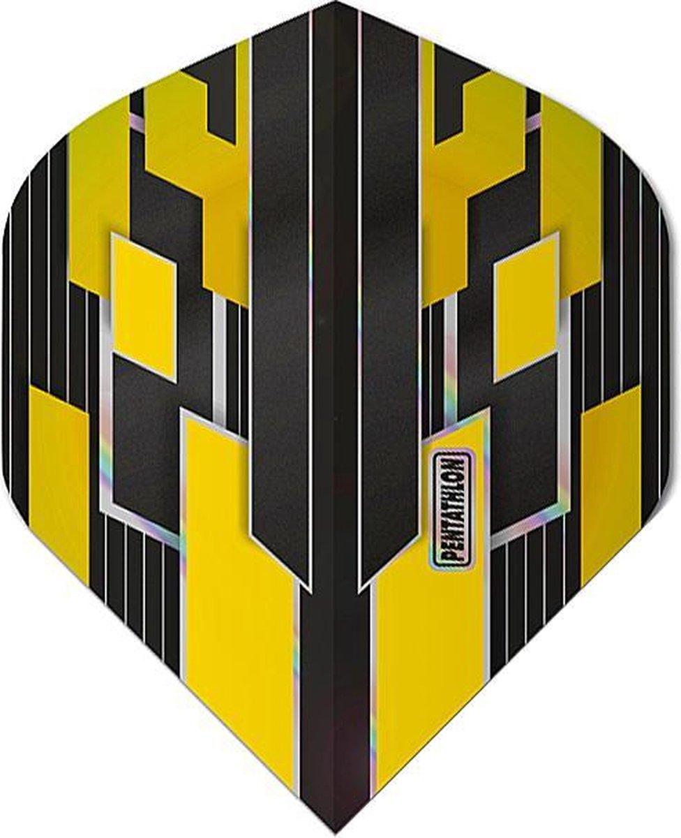 ABC Darts - Pentathlon Dart Flights Shimmers - Geel - 5 sets