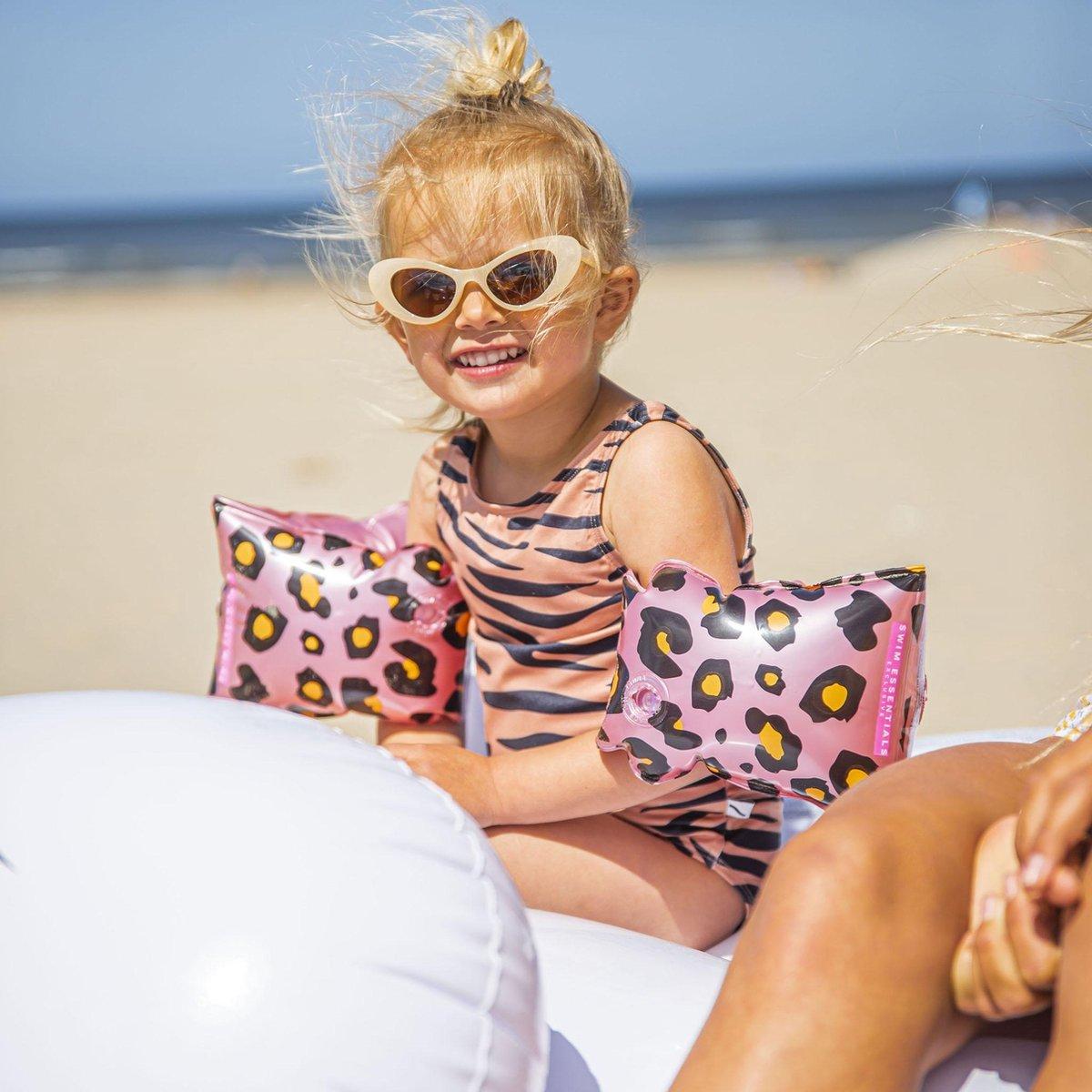 Swim Essentials Zwembandjes - Rosé Goud - Tijgerprint - Zwemvleugels Meisje - 2-6 jaar