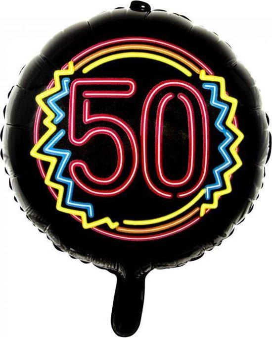 Wefiesta Folieballon 50 Neon 45 Cm Zwart