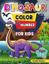 Dinosaur Color by Number for Kids