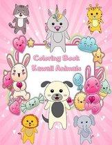 Coloring Book Kawaii Animals