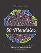 50 Mandalas - Coloring Book for Adults