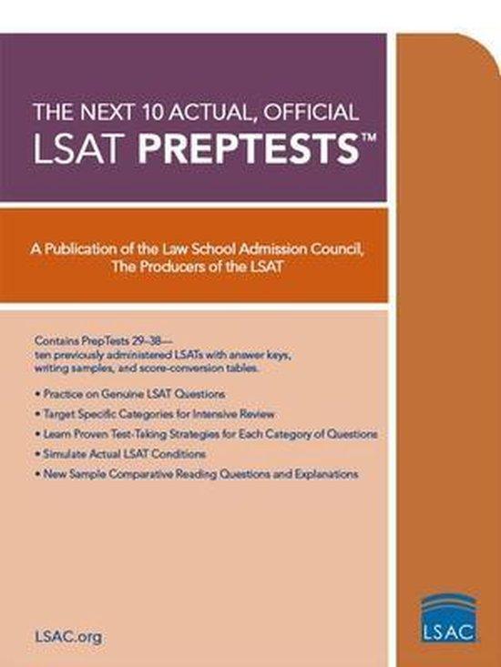 Next 10 Actual Official Lsat Preptests
