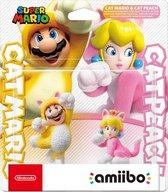 Nintendo amiibo Ingame speelfiguur - Cat Mario & Cat Peach