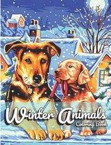 Winter Animals Coloring Book