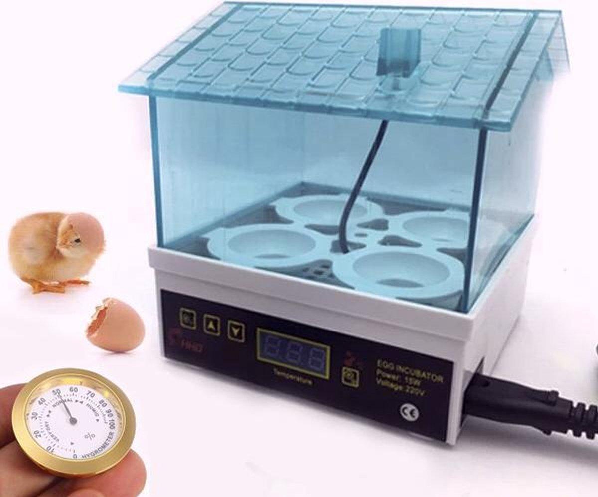 Luxe Broedmachine voor eieren - incl accessoires - hygrometer - waterflesje met spitse tuit
