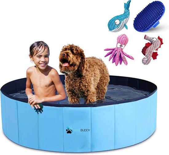 Splashbuddy hondenzwembad 120 X 30 CM - GRATIS XL KONG honden knuffel - Honden speelgoed - Hondenbad - Dog pool - Kinderzwembad - Zwembaden