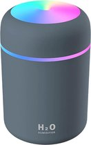 Aroma diffuser 300ML - inclusief Sfeer en nachtlampje - Donker grijs