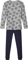 Name it Jongens Voetbal Pyjamaset - Grey Melange