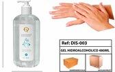 Desinfecterende Handgel - handsanitizer met pomp| 70% Alcohol | 480 ml per fles | Antibacterieel /sanitizer / Spaanse merk: EVICH.1 fles niet te kopen MINIMAAL 4 FLESSEN!