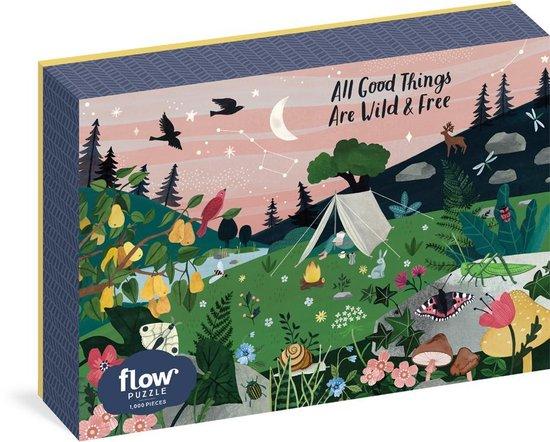 Afbeelding van Flow Magazine - Puzzel 1.000 stukjes - All Good Things Are Wild & Free