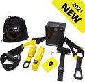 W&Z TRX Suspension trainer Pro - Thuis sporten -  Complete TRX Training set - Zwart/Geel
