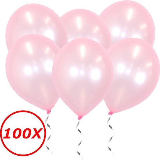 Roze Ballonnen Metallic 100 Stuks Feestversiering Gender Reveal Verjaardag Ballon