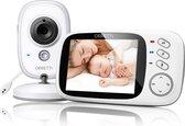 Orretti® V8 Babyfoon met camera - EXTRA batterij inbegrepen -  Nederlandse Handleiding - Groot LCD scherm - Sterk Zendbereik - Upgrade Versie - Wit