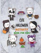cute halloween activity book for kids