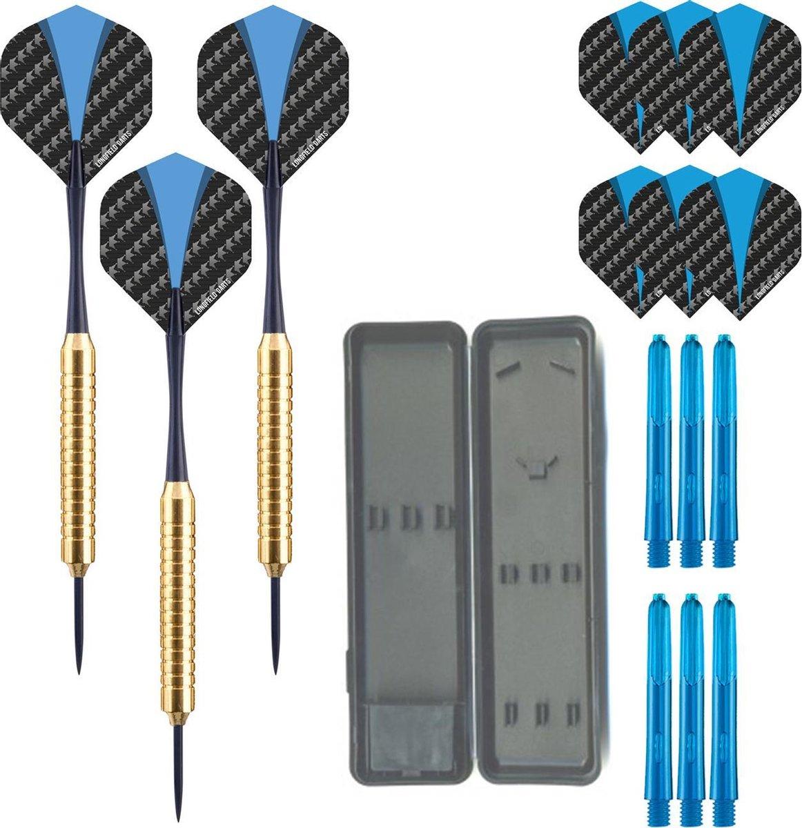 Dragon Darts Golden Stinger - dartpijlen - inclusief - dart shafts - dart flights - dartpijlen 23 gram - 100% brass