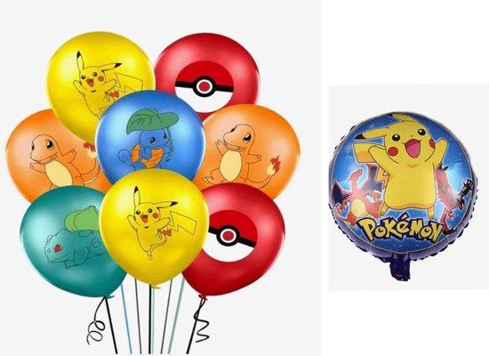 Pokemon ballonnen 10 stuks inclusief 1 folie ballon , ballon, Pikachu