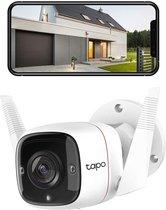 Draadloze bewakingscamera, binnen en buiten, wifi-IP-camera, 1080p, bidirectionele audio, nachtzicht, bewegingsdetectie, compatibel met Alexa of Google Assistant (TAPO C310).