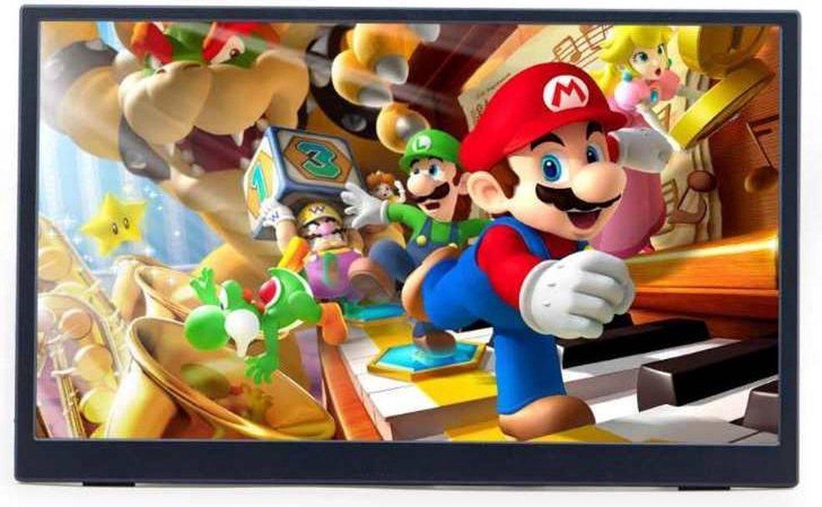 Lipa AX-60 portable monitor 4K Ultra HD 15.6 / HDMI / 2x USB C & 1x Micro usb / Met hoes en kickstand / Ook voor Nintendo Switch, Xbox en Playstation / Makkelijk mee te nemen