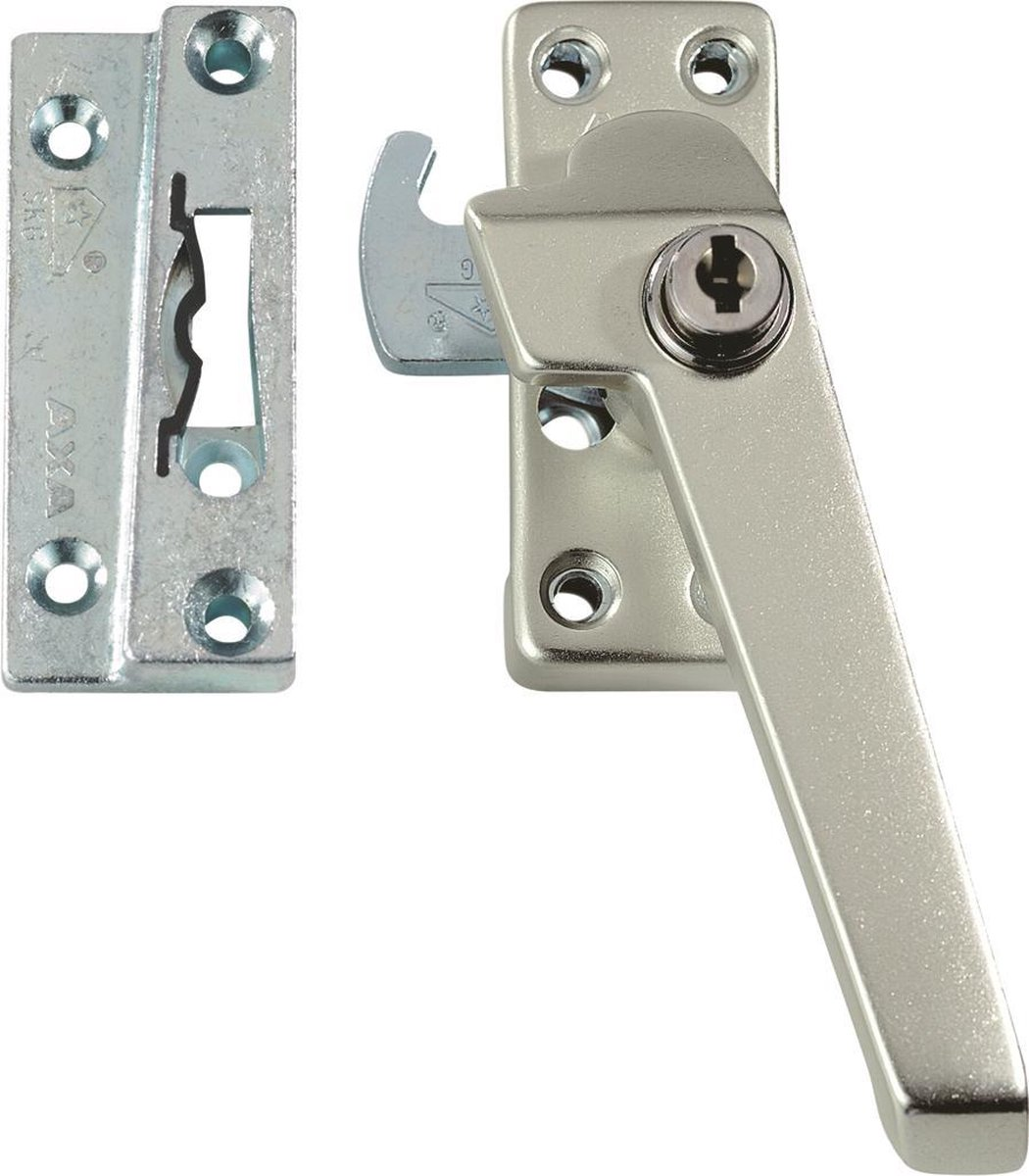 Raamboom AXA 3319 Veiligheids raamsluiting - 3319-51-92/GE - draairichting 3 - Aluminium F2