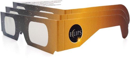 Eclipsbril - bril voor zonsverduistering - per 3 stuks