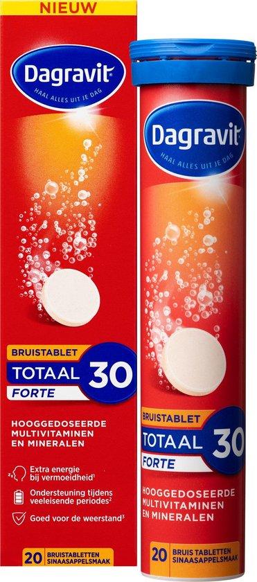 Dagravit Totaal 30 Forte*  - Vitaminen en Mineralen - 20 Bruistabletten
