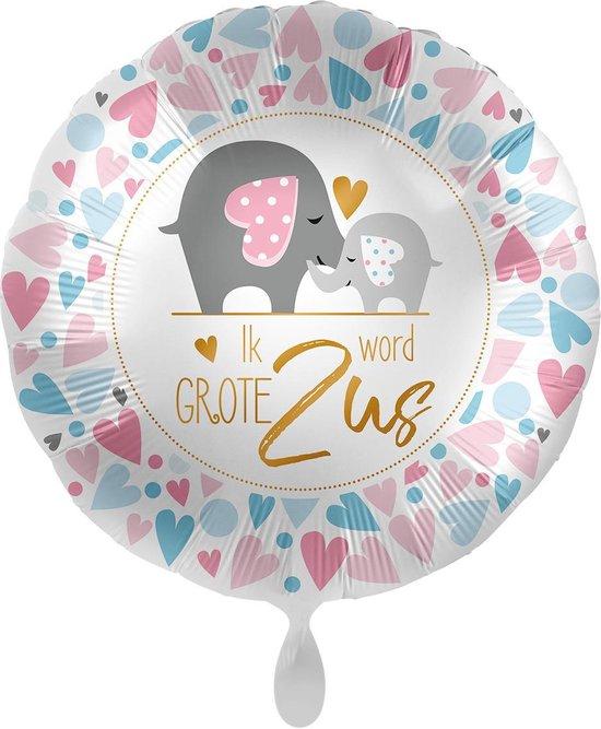 Everloon - Folieballon - Ik Word Grote Zus - 43cm - Voor geboorte