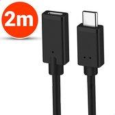 Vues USB-C 3.1 Verlengkabel - 2 Meter - Ondersteund 4k - USB type C - Female naar Male adapter kabel - Data + Opladen