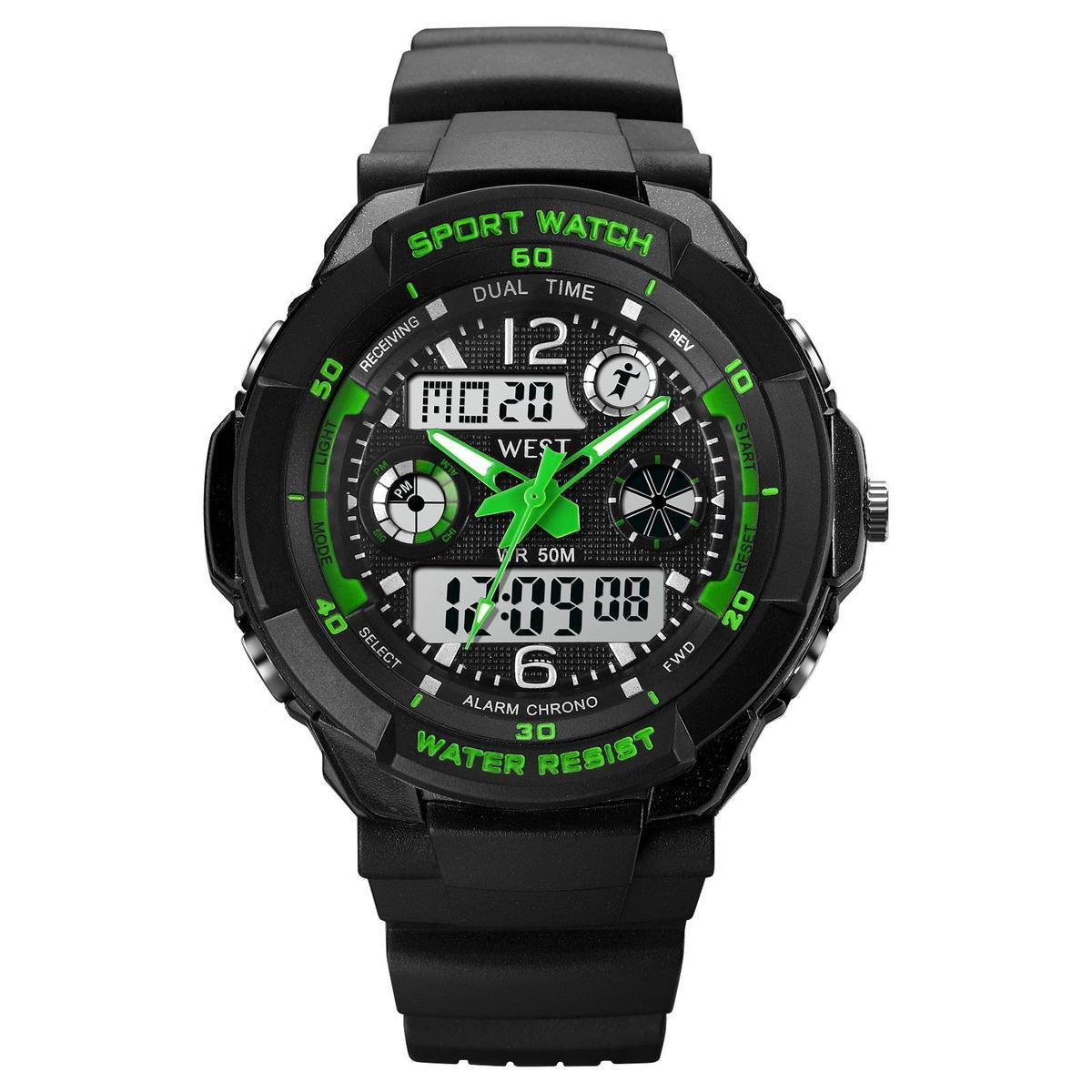 West Watch – multifunctioneel kinder sport horloge - model Storm – Chronograaf – Shockproof - Digita