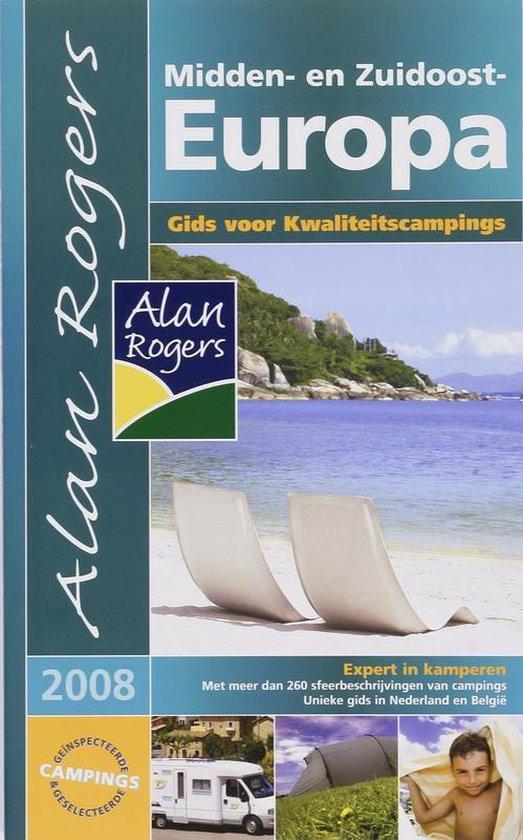 Cover van het boek 'Alan Rogers Campinggids Midden en Zuid-Oost Europa 2008'