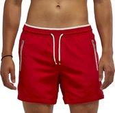 Coral Beachwear The Lifeguard - zwembroek - ritszakken - rits - mannen - rood - 100% Taslan – sneldrogend