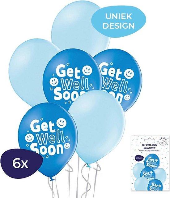 Get Well Soon ballonnen – Get well soon -  Helium ballonnen - Beterschap  - Beterschap ballon - Ballonnen - 6 stuks