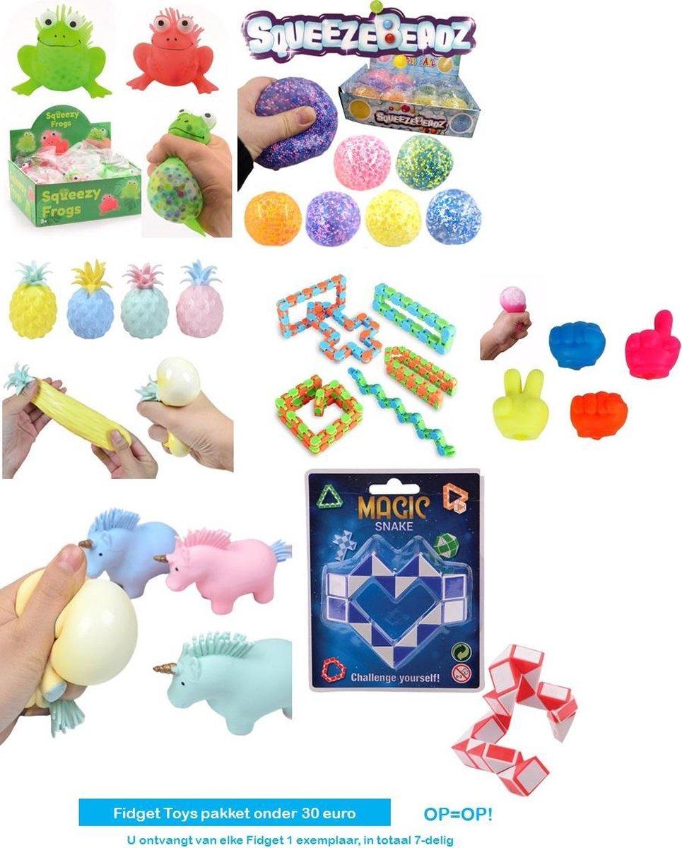 Fidget Toys pakket onder de 30 euro - Ananas Stressbal - Stressbal Foamballetjes - Orbeez bal - Frie