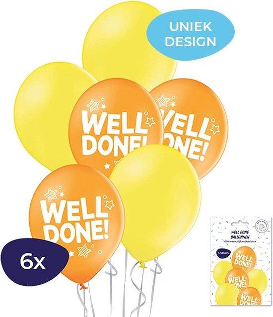 Well Done Ballonnen - Geslaagd versiering - Geslaagd - Trots op jou - Geslaagd ballonnen - Rijbewijs cadeau - Trots - Helium ballonnen - 6 stuks