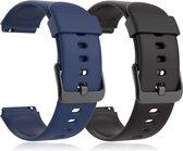 Smartwatch-Trends S205L – Vervanging Horlogeband –  Siliconen bandje - Zwart en Blauw