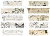 Stickerstrookjes - Vintage Script - 50 stuks - Stickers voor o.a. bulletjournal, scrapbooking en het maken van kaarten - Multi Color