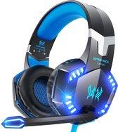 KOTION EACH G2000 gaming-headset - Zwart/Blauw - Geschikt voor PS4, Xbox One, Switch & Windows