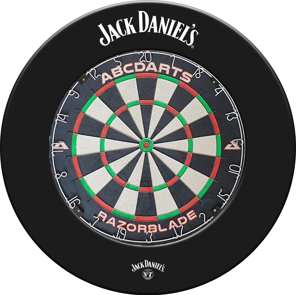 Jack Daniel's Dartbord Surroundring + Razorblade Dartbord + 2 Sets Darts